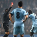 Yaya Toure was sent off in the 81st minute of the match after lashing out at an oppponent
