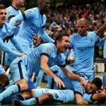 City players go crazy after Sergio Aguero completes the comeback over Bayern Munich with his third goal of the game