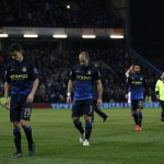 The City players dejectedly walk off the pitch after losing against Burnley