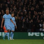 Vincent Kompany, Fernandinho and Martin Demichelis cut dejected figures as they slumped to a defeat against Crystal Palcae