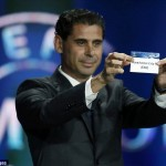 Former Real Madrid legend, Fernando Hierro picks Manchester City's name out of the hat at a Champions League draw